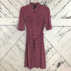Laundry by Shelli Segal Button Stretch Dress NWOT